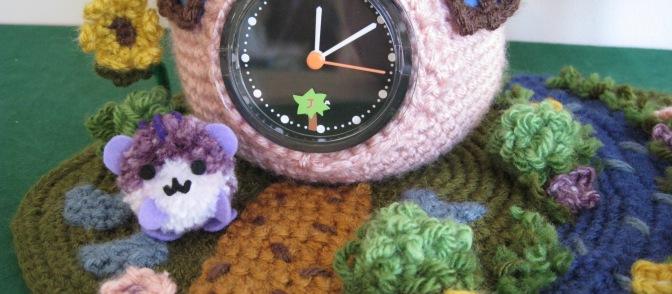 Third Prize!!! Strawberry Clock Hamster Garden.